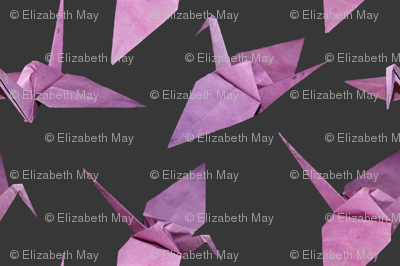 I spy origami cranes (medium violet/pink)