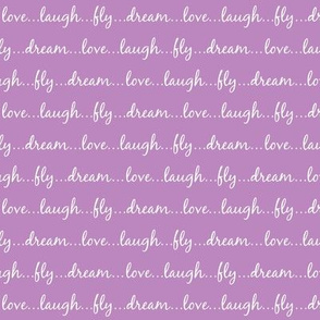 Dream... Love... Laugh... Fly... (on orchid) - Best Friend 2 Coordinate for Girls GingerLous