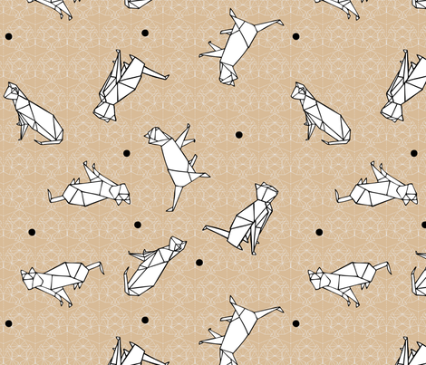 CatOrigami fabric by mestissus on Spoonflower - custom fabric