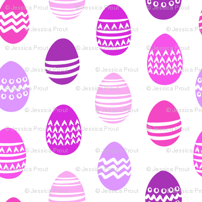 Easter eggs - purple
