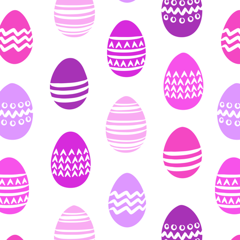 Easter eggs - purple fabric by littlearrowdesign on Spoonflower - custom fabric