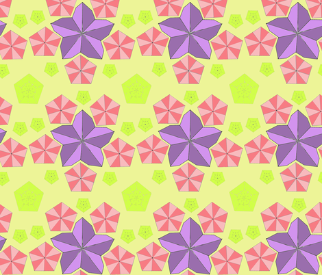 Origami Flower Folds Bright colors fabric by lorloves_design on Spoonflower - custom fabric