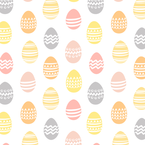 (small scale) Easter eggs - spring fabric fabric by littlearrowdesign on Spoonflower - custom fabric