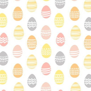 (small scale) Easter eggs - spring fabric