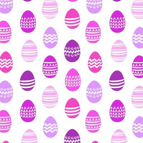 (small scale) Easter eggs - purple