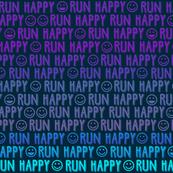 run happy faces SMALL purples & blues