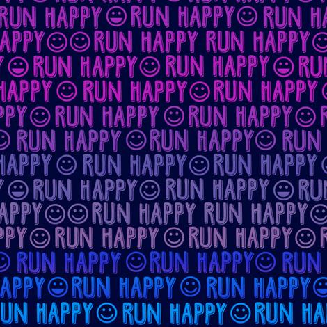 run happy faces purples & blues fabric by clothcraft on Spoonflower - custom fabric