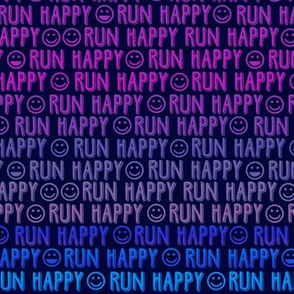 run happy faces purples & blues