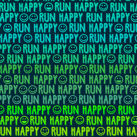 run happy faces greens fabric by clothcraft on Spoonflower - custom fabric