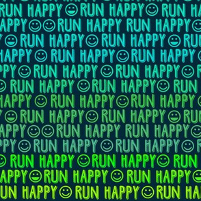 run happy faces greens