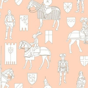 Knights on Pink