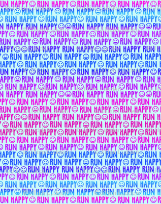 run happy faces pinks and blues