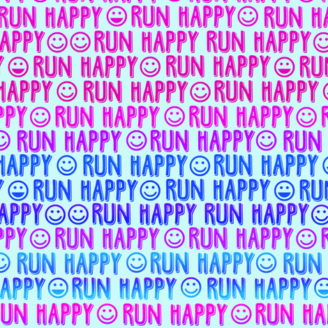 run happy faces pinks and blues fabric by clothcraft on Spoonflower - custom fabric