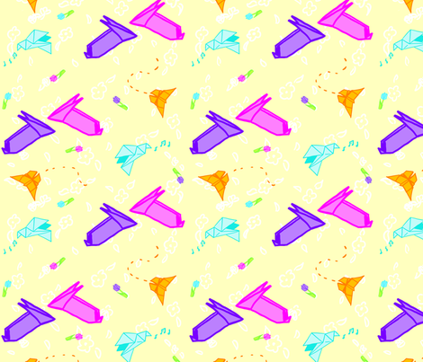 Springtime Origami fabric by galactikat on Spoonflower - custom fabric