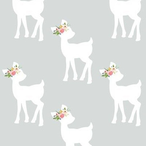 Fawn (light grey) – Baby Deer Girls Nursery Bedding