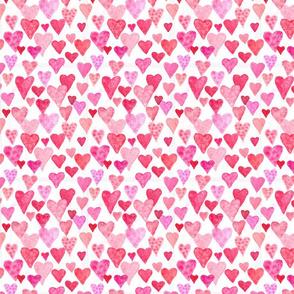 Watercolor Hearts - Small Scale