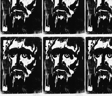Emil Nolde Prophet fabric by messymerv on Spoonflower - custom fabric
