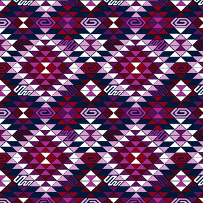 Kilim in Orchid and Navy