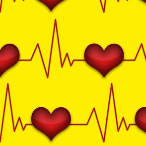 heartbeat yellow