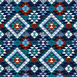 Kilim in Blue and Teal