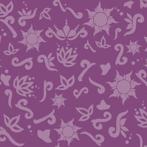 Rapunzel scatter print