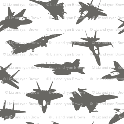 Grey Fighter Jets // Large
