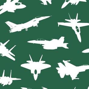 Fighter Jets on Jade // Large