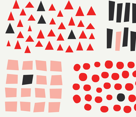 all shape sticks and stones  fabric by sofsdesigns on Spoonflower - custom fabric