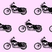 Harleys on Pink // Large