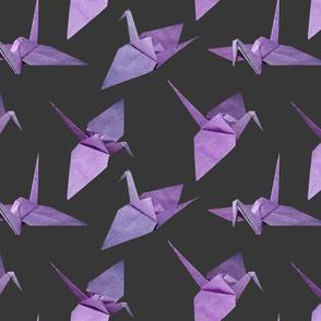 origami cranes ultra violet