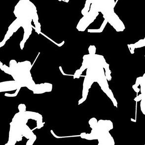 Hockey Players on Black // Large