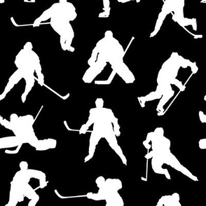 Hockey Players on Black // Small