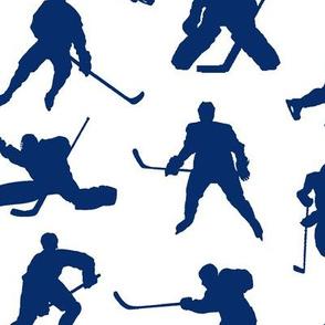 Blue Hockey Players // Large