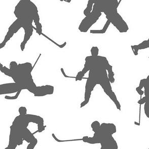 Grey Hockey Players // Large