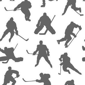 Grey Hockey Players // Small