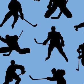Hockey Players on Ice Blue // Large