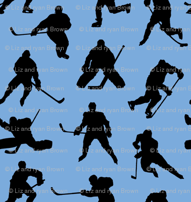 Hockey Players on Ice Blue // Small