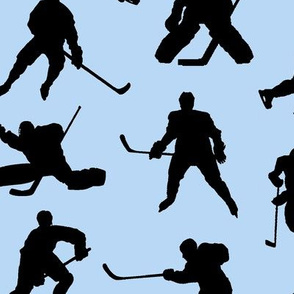 Hockey Players on Light Blue // Large
