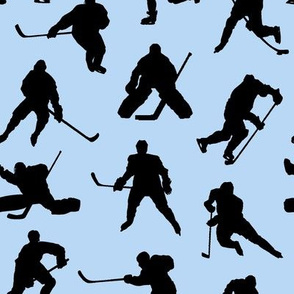 Hockey Players on Light Blue // Small