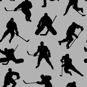 Hockey Players on Grey // Small