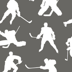 Hockey Players on Slate // Large