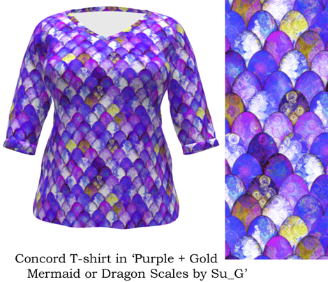 Purple + Gold Mermaid or Dragon Scales by Su_G_©SuSchaefer