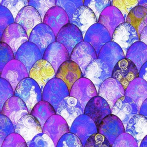 Purple + Gold Mermaid or Dragon Scales by Su_G