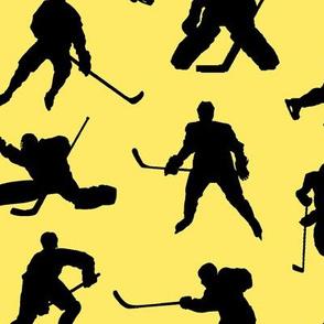 Hockey Players on Yellow // Large