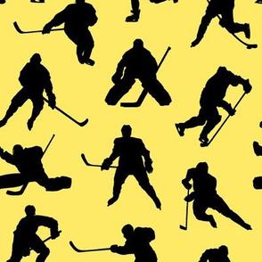 Hockey Players on Yellow // Small