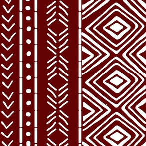 Burgundy Mud Cloth // Large