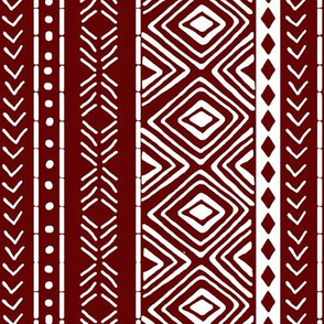 Burgundy Mud Cloth // Small