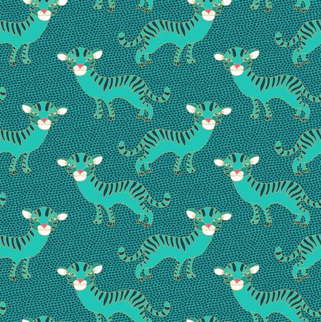 Tiger  fabric by dariara on Spoonflower - custom fabric