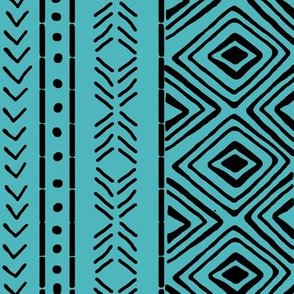 Turquoise Mud Cloth // Large