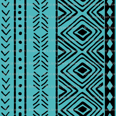 Turquoise Mud Cloth // Small